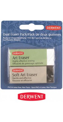 Gumki do mazania Soft & Art Eraser, Derwent, 2 szt.