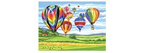 Hot air balloons, zestaw do numeromalowania, Reeves