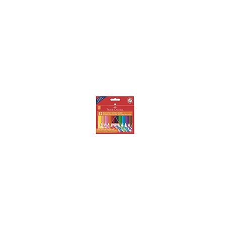 Kredki świecowe Grip 12 kol. JUMBO, Faber Castell
