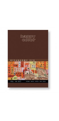 Blok szkicowy ECO z szarym papierem, Happy Color, 25 ark. A4, 15