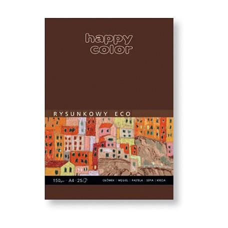 Blok szkicowy ECO z szarym papierem, Happy Color, 25 ark. A4, 15
