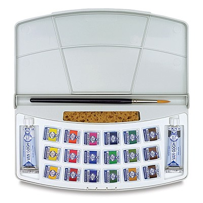 Talens Van Gogh - zestaw akwareli w kostkach, 18 kolorów