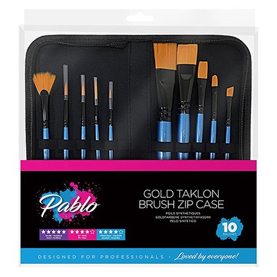 Gold Taklon Brush Set