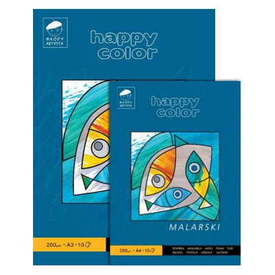 Blok malarski A4 Happy Color, 200g