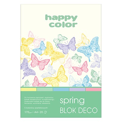 Blok DECO Spring A4 Happy Color, 170g