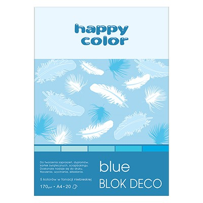 Blok DECO Blue A4 Happy Color, 170g