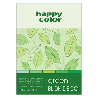 Blok DECO Green A4 Happy Color, 170g