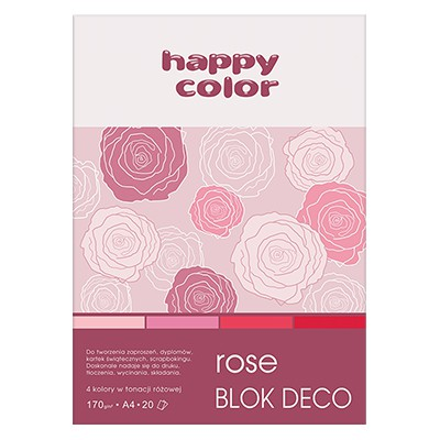 Blok DECO Rose A4 Happy Color, 170g