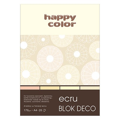 Blok DECO Ecru A4 Happy Color, 170g