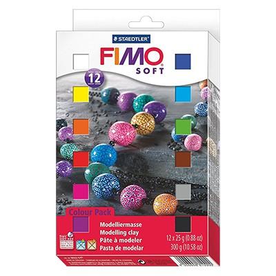 FIMO soft, zestaw 12 kostek x 25g
