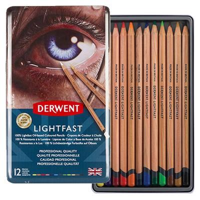 Kredki Derwent Lightfast, 12 kolorów