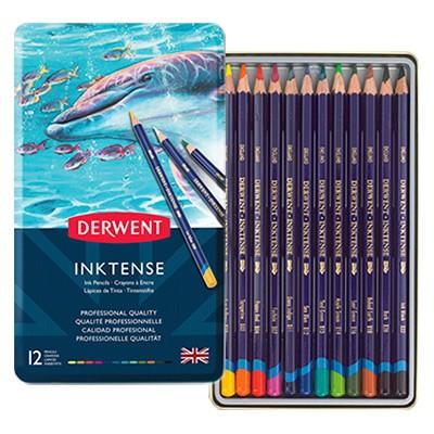 Tusz w kredce Inktense, Derwent, 12 kolorów
