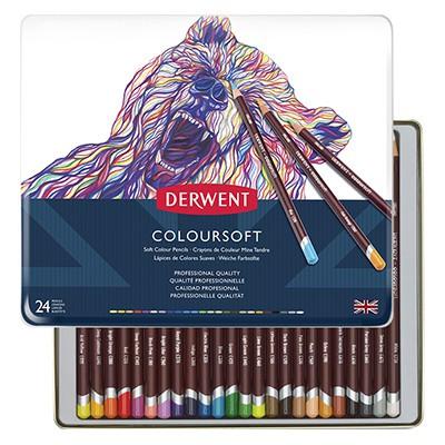 Kredki rysunkowe Coloursoft, Derwent, 24 kolory