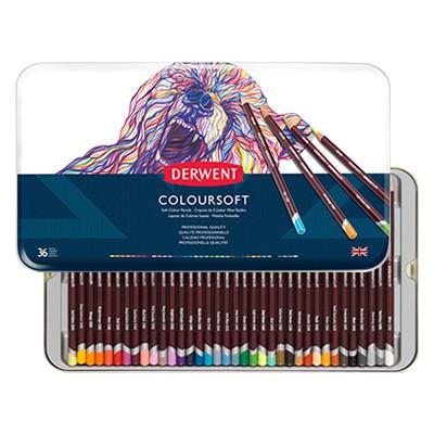 Kredki rysunkowe Coloursoft, Derwent, 36 kolorów