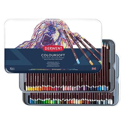 Kredki rysunkowe Coloursoft, Derwent, 72 kolory