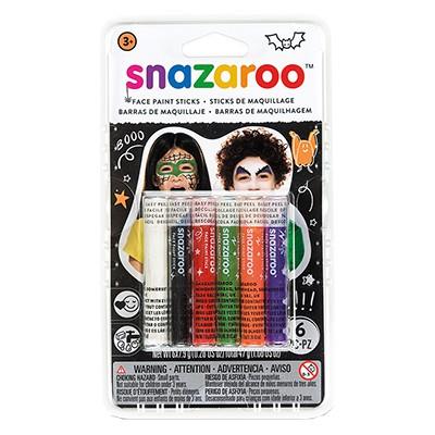 Halloween - kredki do malowania twarzy, Snazaroo, 6szt
