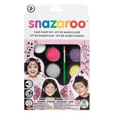 Dziewczynki, zestaw farb Snazaroo, 8 kolorów + akcesoria