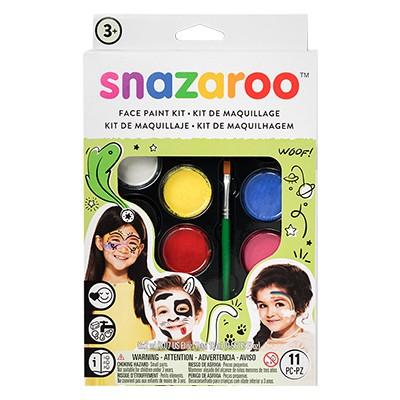 Uniwersalny, zestaw farb Snazaroo, 8 kolorów + akcesoria