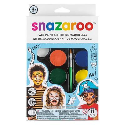 Chłopcy, zestaw farb Snazaroo, 8 kolorów + akcesoria