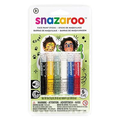 Uniwersalny, zestaw kredek do twarzy Snazaroo, 6 kolorów