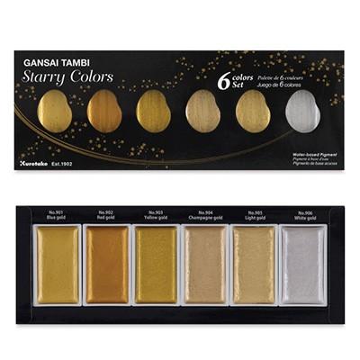 Farby akwarelowe Gansai Tambi, Starry Colors, 6 kol.