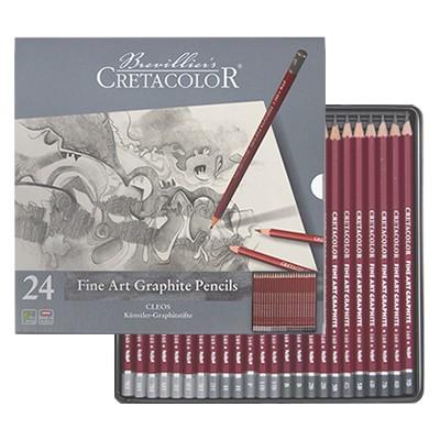 Ołówki grafitowe Cleos, Cretacolor, 24 sztuki