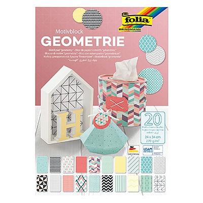 Geometria - blok z motywami dekoracyjnymi 24 x 34 cm