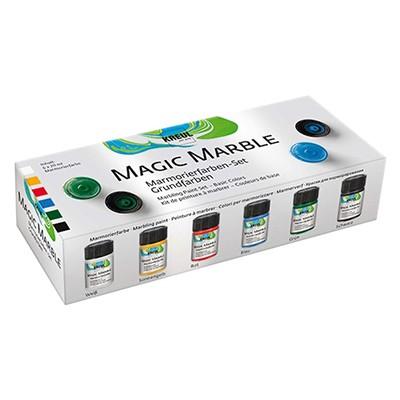Magic Marble Basic, marmurkowe farby, 6 kol.