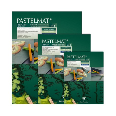 Pastelmat green tones
