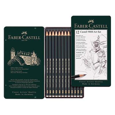 Ołówki rysunkowe Castell 9000 Art, Faber-Castell, 12 sztuk