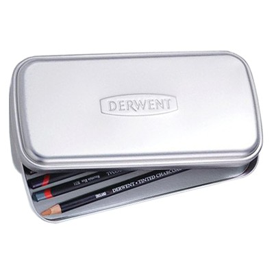 metal tin for pencils