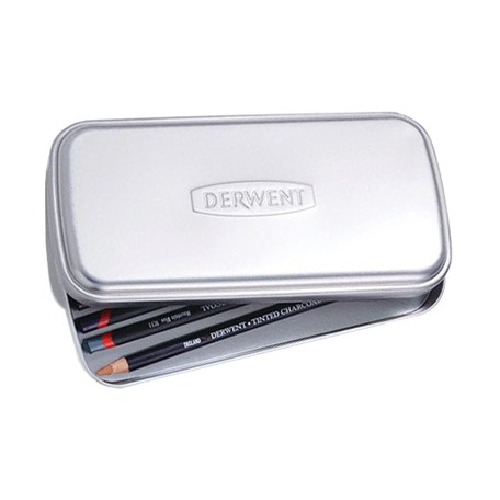 metal tin for pencils