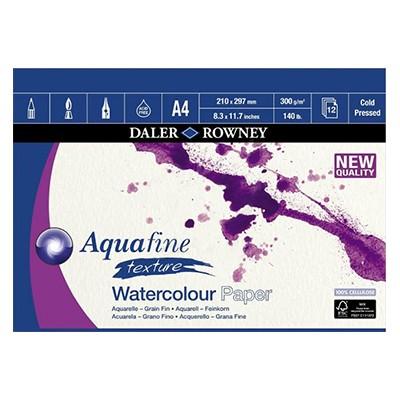 Aquafine texture, blok akwarelowy Daler Rowney A4, 300g