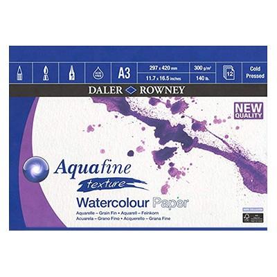 Aquafine texture, blok akwarelowy Daler Rowney A3, 300g