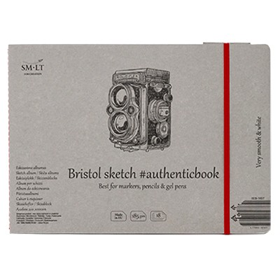 Bristol blok szyty z gumką 24,5 x 17,5 SMLT, 185g