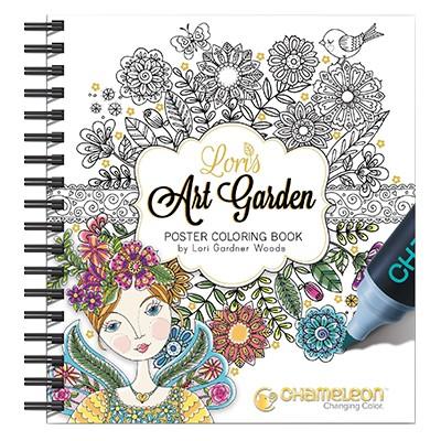 Art Garden, kolorowanki dla dorosłych, Chameleon 20.3x25.4cm