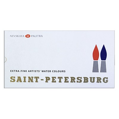 Saint Petersburg, farby akwarelowe, 24 kol.