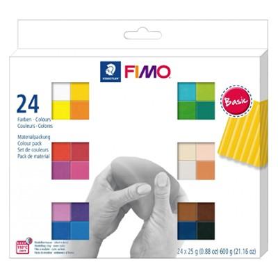 Zestaw Fimo Soft kolory podstawowe, 24 szt.
