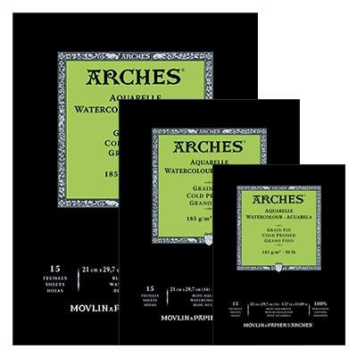 Blok akwarelowy Arches CP A4, 185 g, 15 ark.