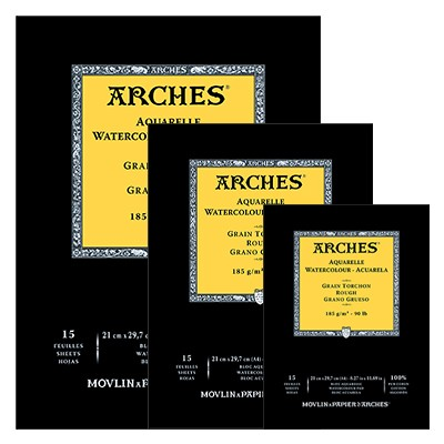 Blok akwarelowy Arches Rough A4, 185 g, 15 ark.