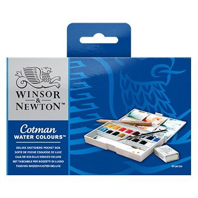 Farby akwarelowe Cotman w kostkach, Deluxe Sketchers pocket box