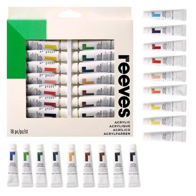 Farby akrylowe zestaw firmy Reeves, 18 x 10ml