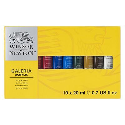 Farby akrylowe Galeria, zestaw 10 x 20ml
