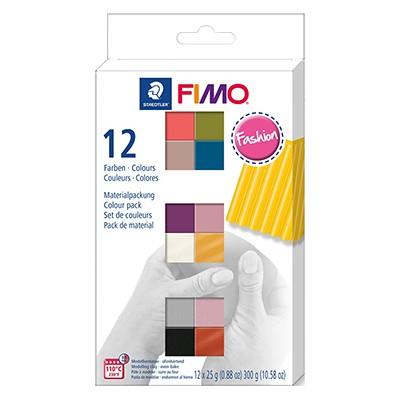 Zestaw Fimo soft i effect, Fasion 12 x 25 g
