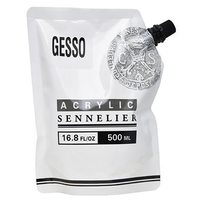 Gesso, uniwersalny, biały grunt Sennelier, 500 ml