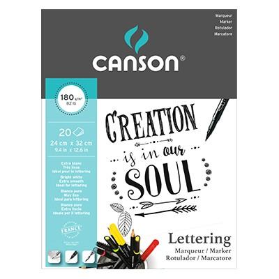 Canson Lettering Marker, blok 24 x 32 cm