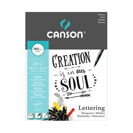 canson lettering marker pad