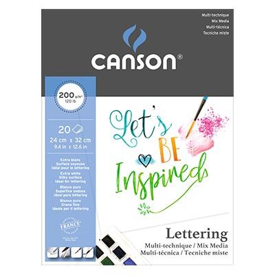 Canson Lettering Mix Media, blok 24 x 32 cm