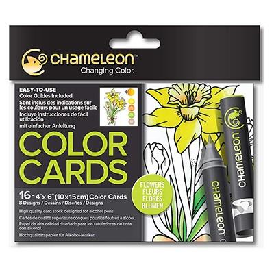 Flowers, kolorowanki dla dorosłych, Chameleon 10x15cm