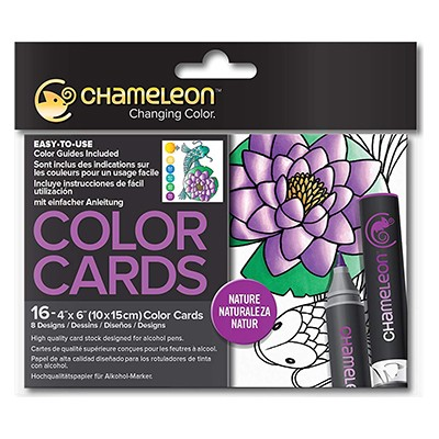 Nature, kolorowanki dla dorosłych, Chameleon 10x15cm